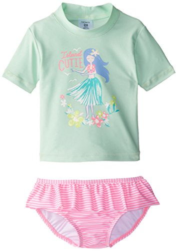 Carter 39 s baby girls 39 hula rash guard set mint 24 months for Baby rash guard shirt