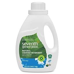 Seventh Generation Natural 2X Liquid Laundry Detergent - Liquid Solution - 50 oz (3.12 lb) - Clear