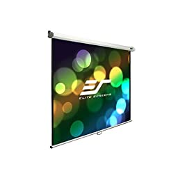 Elite Screens Manual, 135-inch 4:3, Pull Down Projection Manual Projector Screen with Auto Lock, M135XWV2