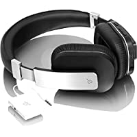 Aluratek ABT01FKIT On-Ear 3.5mm Wireless Bluetooth TV Headphones (Black)
