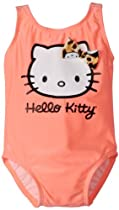 Hello Kitty Baby-Girls Infant 1 Piece With Leopard Bow, Coral, 24 Months