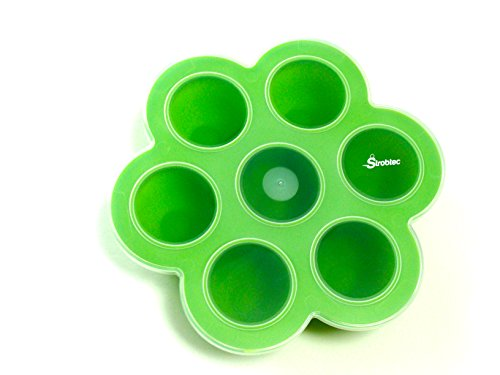 Silicone Baby Food & Snack Tray Prepare Homemade Baby Food and Store in a Multiportion Freezer Tray Container Made Safe and Simple with a Snap-on Lid. Our Easy Out 7 X 2.5 Oz Non-stick Pods (Freezable Baby Food compare prices)