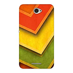 Delighted Multicolor Merge Back Case Cover for Sony Xperia E4