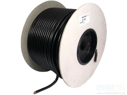 Nevada RG213U High Quality Low Loss 50 Ohm Coaxial Cable 100m Drum