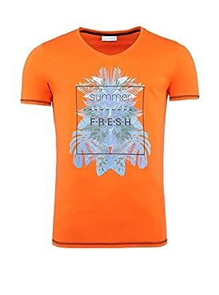 SUMMERFRESH Camiseta Manga Corta Cliff (Naranja)
