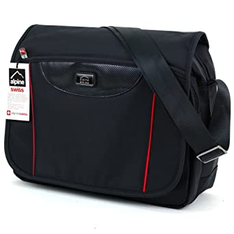 Alpine Swiss Messenger Bag Laptop Briefcase Computer Case Shoulder Cross Body