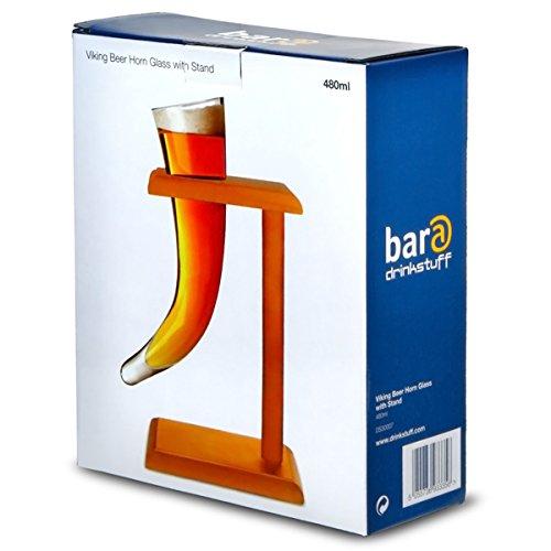 Vikingo-Cerveza-Cuerno-de-vidrio-con-soporte-17-oz-480ml-Vikingo-Cuerno-de-cristal-de-la-novedad-del-vidrio-de-cerveza-Cuerno-Beber