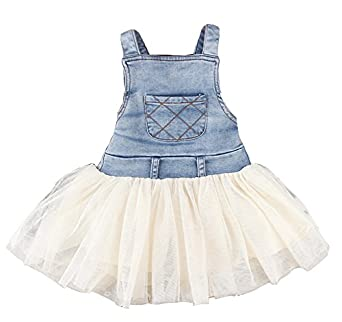 Kids Baby Girls Clothes Summers Denim Tulle Dress / Overalls Outfits