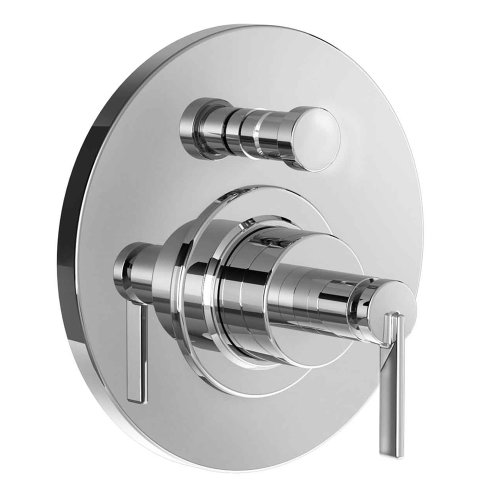 Jado 847546.100 Stoic Pressure Balance Diverter Tub and Shower Valve Trim with Cy Handle, Polished Chrome