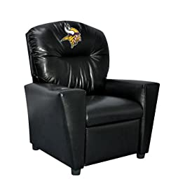 Imperial Officially Licensed NFL Furniture: Youth Faux Leather Recliner, Minnesota Vikings