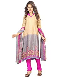 Yehii Women's Crepe Beige Paisley dress material Unstitched Salwar Kameez Dupatta for women party wear low price Below Sale Offer