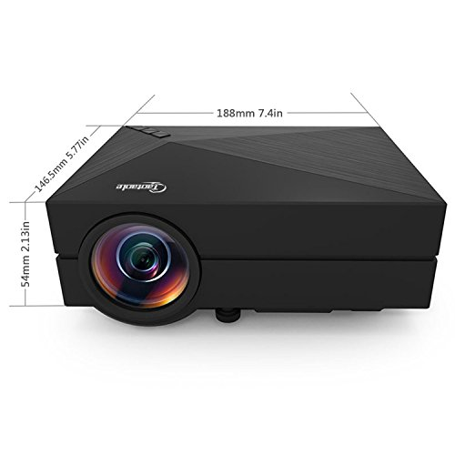 Best taotaole mini led projector lcd 1000 lumens for Highest lumen pocket projector