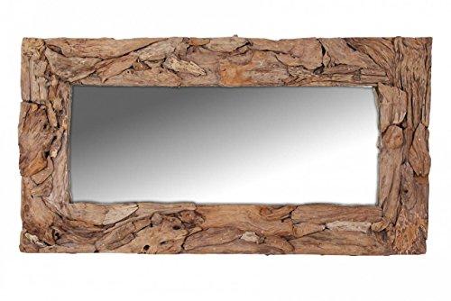 Wandspiegel-90x170-rechteckig-Holz-Hell-Teak-Einzelspiegel-gnstiger