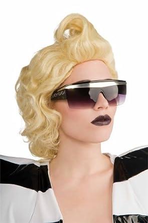 Lady Gaga Glasses,Black,One Size