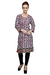 Lady In Red Rayon Kurta (Size- Large)