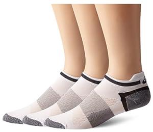 ASICS Quick Lyte Low Cut Sock (3 pair pack) White, Medium