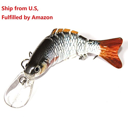 Discover Fish® 1pcs New Muskie Small Multi Jointed Fishing Life-like Hard Lure Bass Bait Swimbait Minnow Crank Shad Herring Bass Pike Muskie