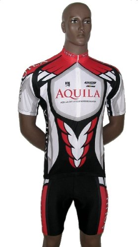AQUILA Team Set includes short arm jersey, shorts for cycling, MTB or leisure cycling - also for other speed sports such as indoor cycling and speedskating.