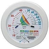 屋内用 熱中症注意目安付 温度湿度計(温湿度計) 〜針の交差で注意レベル表示〜 TM-2482
