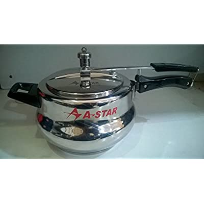 A-STAR 5 LITRE STAINLESS STEEL HANDI PRESSURE COOKER