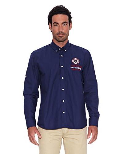 Signore Dei Mari Camisa Hombre Manlio Azul Marino