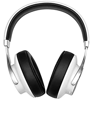 On-Ear Bluetooth Headphones by SoundWhiz. Rediscover Music like the Artist Intended. Open Back Hybrid Over Ear Wireless Headphones with mic. Noise Isolating, NFC Dual Pairing, APTX. Black & White