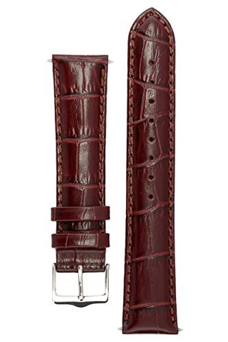 Signature Senator in cognac 22 mm extra-long watch band. Replacement watch strap. Genuine Leather. Silver buckle. Limited time SALE 50% (12mm Extra Long Watch Strap compare prices)