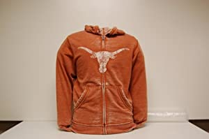 Texas Longhorns Majestic Ball Carrier Full Zip Hooded Burnout Sweatshirt by Unknown