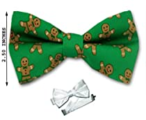 PBTX-5 - Green - Brown - Mens Christmas Theme Pre - Tied Bow Tie