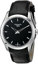 Tissot Men's T0354461605100 Couturier Analog Display Swiss Quartz Black Watch