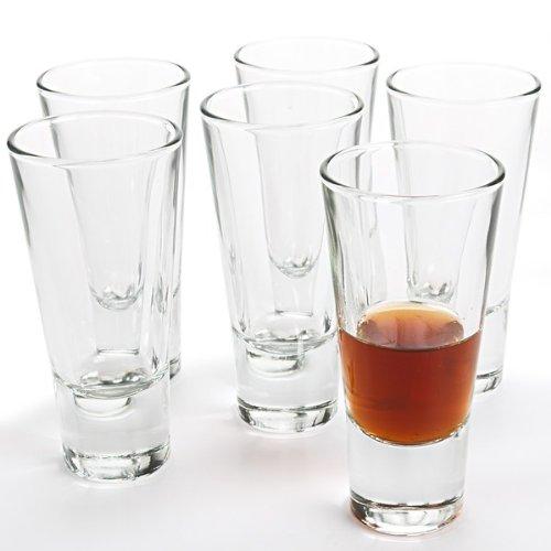 Bormioli Rocco Ypsilon One Shot Glasses (Set of 6), 2.25 oz, Clear