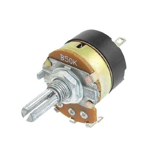 50 kOhm B50K 3 Terminals Kohlenstoff, Turn Rotary Taper Potentiometer