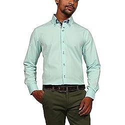 Provogue Men's Formal Shirt (8903522430947_103383-GR-108_Large_Green)