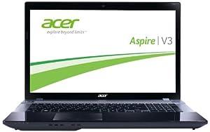 Acer Aspire V3-771-32324G50Maii 43,9 cm (17,3 Zoll) Notebook (Intel Core i3 2328M, 2,2GHz, 4GB RAM, 500GB HDD, Intel HD 3000, DVD, Win 8) grau