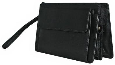 sacoche homme pochette main en cuir noire 63011 amazon. Black Bedroom Furniture Sets. Home Design Ideas