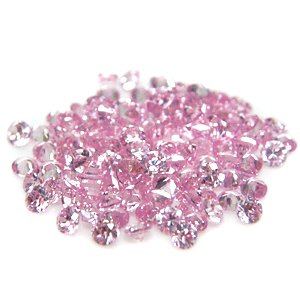 Round 3mm Pink CZ Cubic Zirconia Loose Stone Lot of 500 Pieces