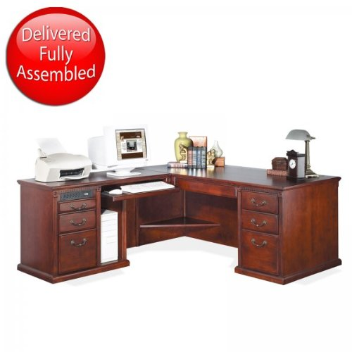 Buy Low Price Comfortable Huntington Club Desk with Left Computer Return (Cherry) (68″W X 29″H X 32″D) (B003K3WWLE)