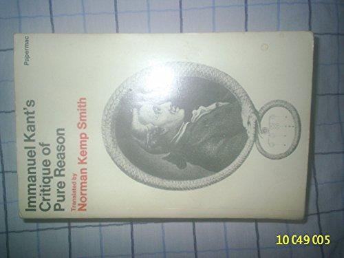 Critique of Pure Reason (Macmillan student editions)