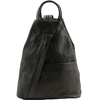 Amazon.com: Tuscany Leather Shanghai - Leather backpack Black