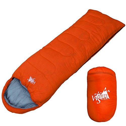 丸洗いが出来る寝袋! 封筒型 寝袋 シュラフ [最低使用温度7度] 500 (オレンジ)