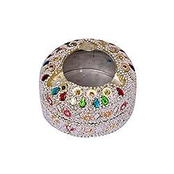 Tabletop Silver Beads Beaded Ashtray Smoking Cigar