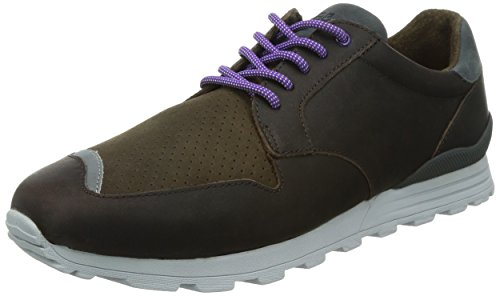 Clae Men's Nathan Umber Leather Sneaker 11.5 D (M)