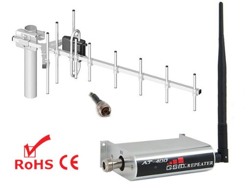 AnyTone AT-400 GSM Repeater Verstärker Booster D2 Vodafone + YAGI Antenne
