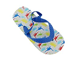 ZTTB-2507-Tod Boys Flip Flop in Fun Patterns with Backstrap-DINO-XL