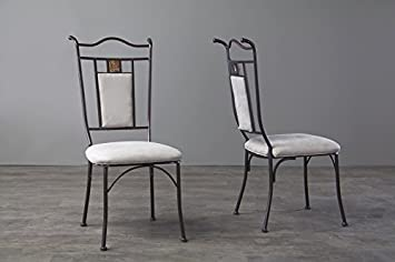 Tirana Metal Transitional Dining Chair with Chanasya Polish Cloth Bundle (Set of Four)