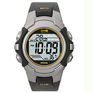 Timex Men's 1440 Sports Digital Watch, Silver/Black, One Size