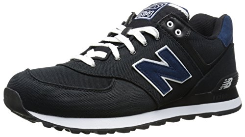 New Balance NBML574POK Sneaker, Canvas Black, 44.5