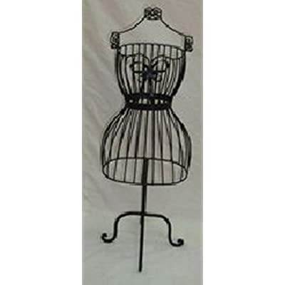 Free Standing Wire Mannequin/ Dress Makers Dummy in Black
