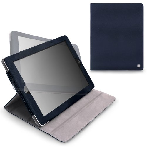 CaseCrown Axis Flip Case (Blue) for iPad 4th Generation with Retina Display, iPad 3 & iPad 2 (Built-in magnet for sleep / wake feature)