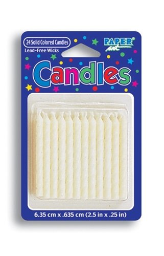 "White 2"" Birthday Candles - 1"